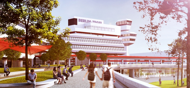 The Urban Tech Republic: Tower; Visualisation: Tegel Projekt GmbH