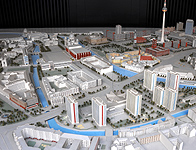 "Excerpt of the plan model ""Berlin - Capital of the GDR"""