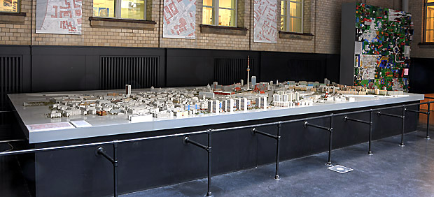Model of the former GDR-City Centre in scale 1:500