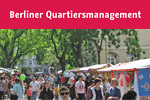 Flyer Informationen zum Berliner Quartiersmanagement; Foto: QM Team: Reuterplatz, Kiezfest